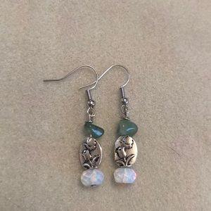 Awesome gemstone earrings silver